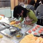和菓子の講習会 仕上げ作業
