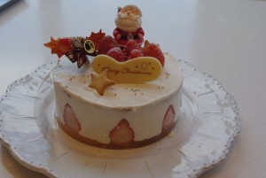 サンタさんon the cake
