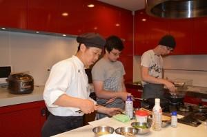 washoku class with Ball State University students8