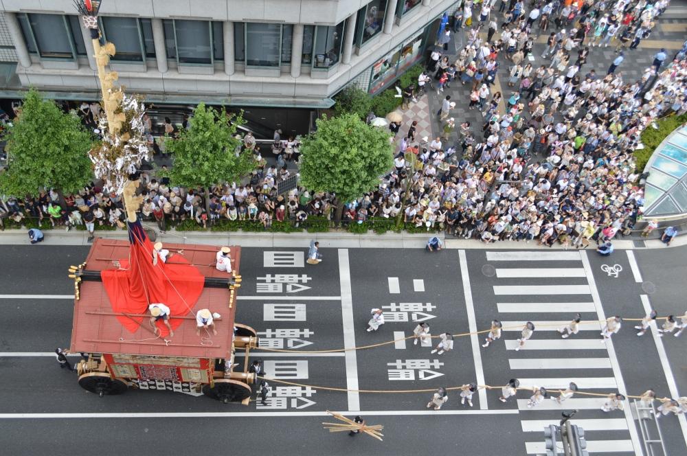 2014年山鉾巡行の様子