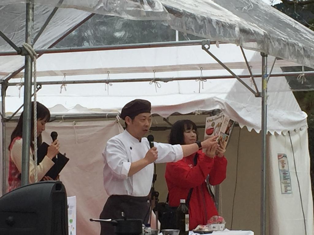 京野菜フェスティバル実演