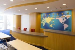 旅行セールス実習室