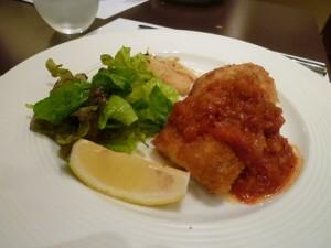 鶏胸肉のカツレツミラノ風