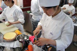 調理の授業